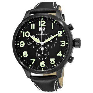 Zeno Super Oversized Mens Black Strap Quartz Chronograph Watch 6221