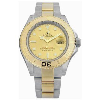 Rolex Yachtmaster Champagne Index Dial Oyster Bracelet Mens Watch