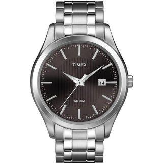 Timex Mens T2N801 Elevated Classics Dress Black Dial Two Tone