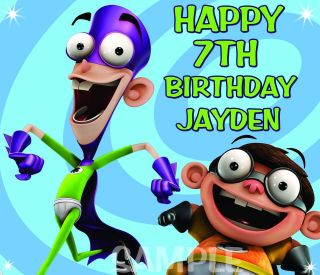 FANBOY AND CHUM CHUM FROSTING SHEET EDIBLE CAKE TOPPER IMAGE