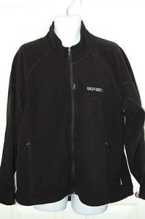 HARLEY DAVIDSON Black Fleece Sweatshirt Jacket XL