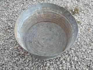 ???? Used Laundry / Water Round Tub Wash Tub good for Flower Pot #3
