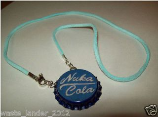 Fallout 3/New Vegas; Nuka Quantum Bottle Cap Necklace (Blue)