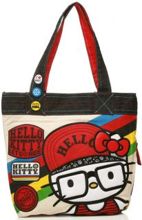 New LOUNGEFLY Hangbag Bag HELLO KITTY Tote Purse SANRIO Biker