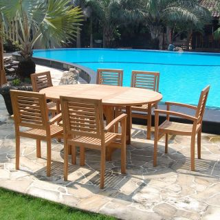outdoor wood dining table in Patio & Garden Furniture Sets