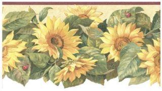 Sunflower Ladybug Gardening Kitchen Laundry Die Cut Wallpaper Border