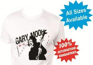gary moore thin lizzy boys girls kids T Shirt New White Custom Print