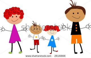 Cartoon Family Stock Vector 2616666 : Shutterstock