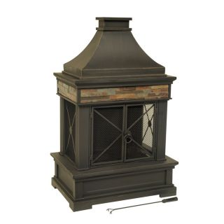 Shop allen + roh Brown Seel Oudoor Wood Burning Fireplace a Lowes