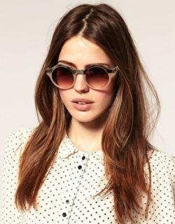 Gafas de sol metálicas redondas con abertura de  en