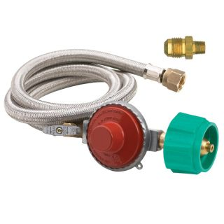 Ver Bayou Classic Stainless Braided LPG Hose Regulator Assembly at