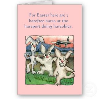 Happy Easter Puns with Buns Funny Cards from Zazzle
