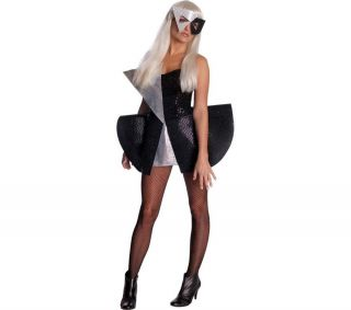 RUBIES Costume per adulto Lady Gaga nero/argento   taglia standard M
