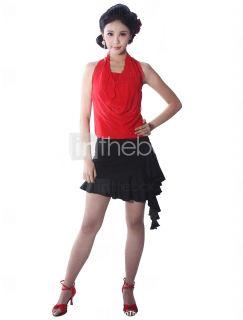 dancewear viscosa / tul vestido de baile latino para damas   USD $ 59