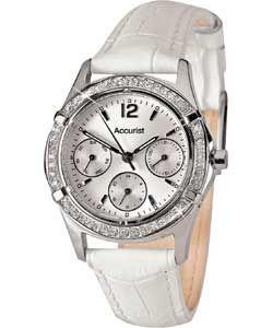 Buy Accurist Ladies White Strap Multi Dial Watch at Argos.co.uk