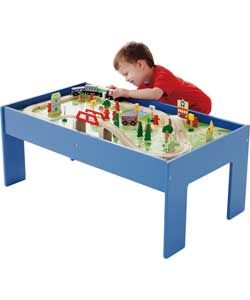 Buy Chad Valley Wooden Table and 90 Piece Train Set at Argos.co.uk