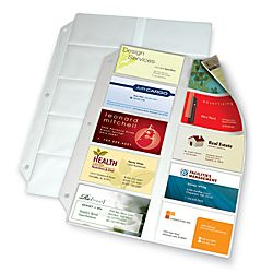 Office Depot® Brand Business Collection Card File Binder Refill Pages