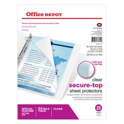Office Depot Brand Secure Top Sheet Protectors by Office Depot