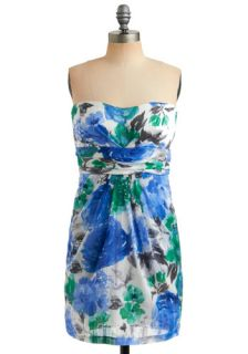 Test the Watercolor Dress   White, Multi, Green, Blue, Brown, Floral