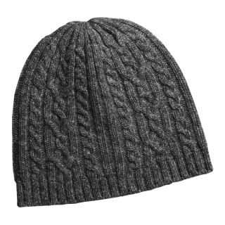 Auclair Cable Knit Beanie Hat   Merino Wool (For Women) in Charcoal