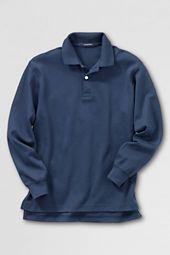 School Uniform Long Sleeve Solid Performance Interlock Polo Shirt