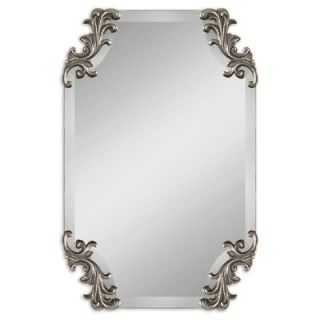 Uttermost Andretta Beveled Mirror in Antiqued Silver