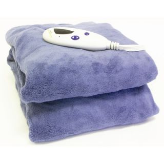 Biddeford Blankets Fleece Heated Throw with Digital Controller