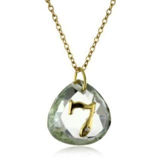 Charmed Circle Love Letter Green Amethyst 7 Necklace   designer