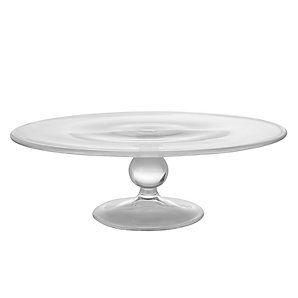 6 cobalt crystal glass hobnail cake stand plate hand. Black Bedroom Furniture Sets. Home Design Ideas