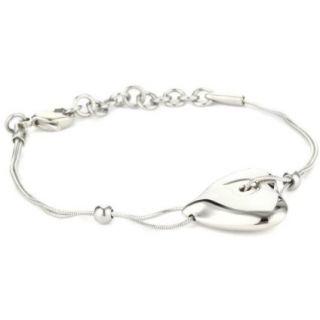 Breil Jewelry Feeling Silver Tone Heart Pendant Necklace Bracelet