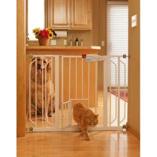 Carlson Pet Extra Wide Pet Gate with Pet Door  Wayfair