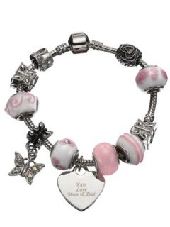 Personalised Heart Charm Bracelet  Very.co.uk
