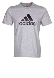 adidas Performance ESS LOGO TEE   T shirt print   medium grey heather