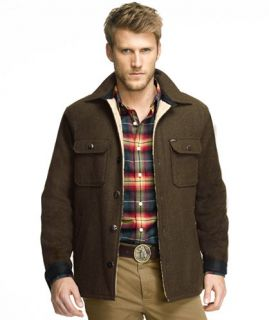 Lined Wool Blend Shirt Jacket SHIRTS   at L.L.Bean
