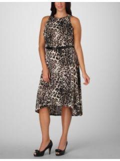 FASHION BUG   Belted Animal Print Maxi Dress