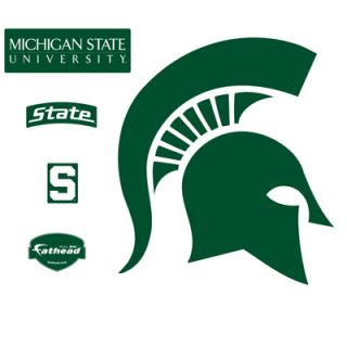 Fathead Michigan State Spartans Logo Vinyl Wall Graphic  Meijer