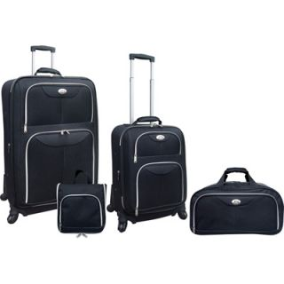 Travelers Club 4 Piece Expandable Luggage Set  Meijer