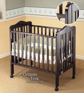 Orbelle Tina Three Level Portable Crib   Espresso