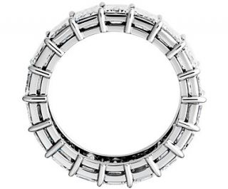 Emerald Cut Diamond Eternity Ring in Platinum (7 ct. tw.)  Blue Nile