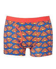 Blue Pattern (Blue) Superman Boxer Shorts  241472849  New Look
