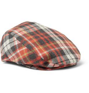 Accessories  Hats  Flat cap  Plaid Wool Blend Flat