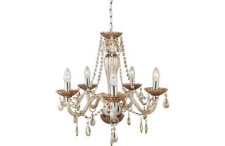 Premiere Collection Como 5 Light Glass Chandelier. from Homebase.co.uk