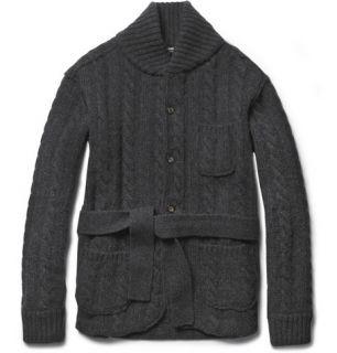 Dolce & Gabbana Shawl Collar Cable Knit Wool Cardigan  MR PORTER