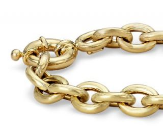 Oval Links Bracelet in 14k Yellow Gold  Blue Nile