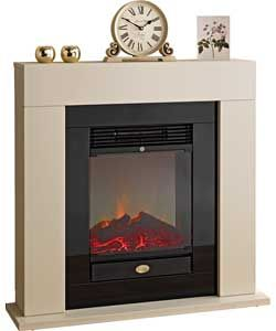 electric fireplace with faux stone surround ef700sp. Black Bedroom Furniture Sets. Home Design Ideas