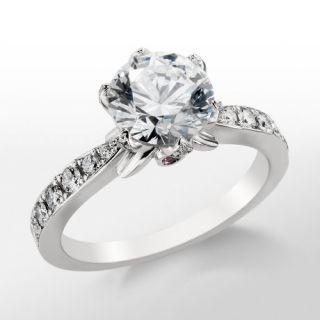Monique Lhuillier Pavé Petal Engagement Ring in Platinum  Blue Nile