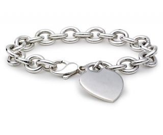 Heart Tag Bracelet in Sterling Silver  Blue Nile