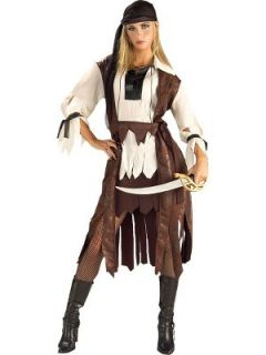 Womens Carribean Pirate Babe Fancy Dress Costume Littlewoods