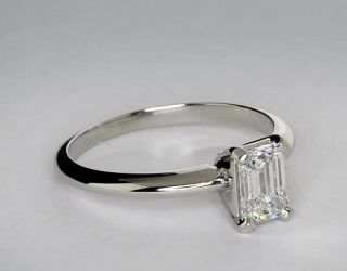 Classic Four Claw Engagement Ring in Platinum  Blue Nile