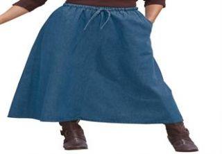 Plus Size Flared skirt  Plus Size Denim Dress & Skirts  Woman Within